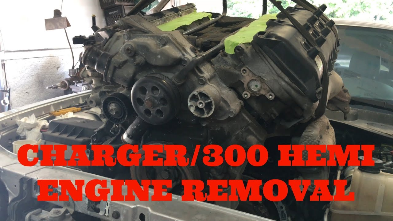 How To Remove Engine From Dodge Charger Chrysler 300 Hemi Youtube