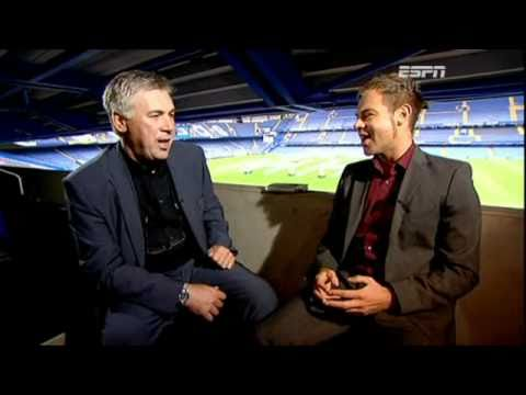Carlo Ancelotti interviewed by Richard Lenton on ESPN
