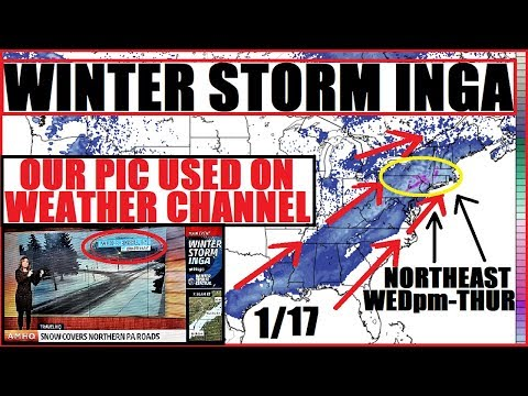 *WINTER STORM INGA* WEATHER CHANNEL Feat. Our Picture! WINTER STORM JAXON to follow!