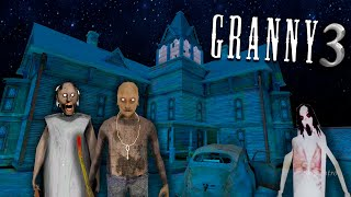GRANNY 3! Bad ending! Scary moments at granny's house!