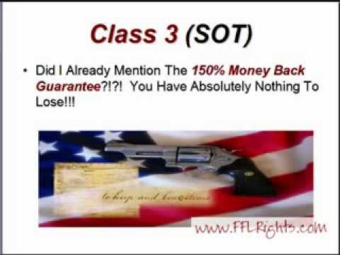 Have Your Class 3 (SOT) FFL License Federal Firearms License