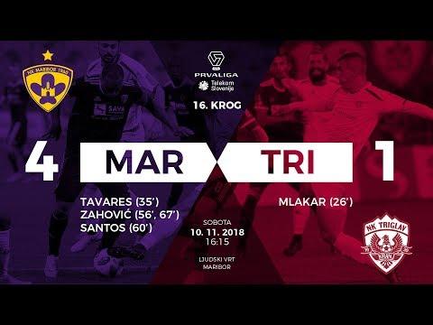 16.krog: Maribor - Triglav 4:1 ; Prva liga Telekom Slovenije 2018/2019