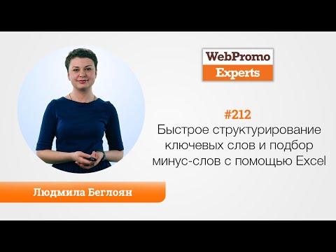 видео: Быстрое структурирование ключевых слов и подбор минус-слов с помощью excel. Людмила Беглоян. tv #212