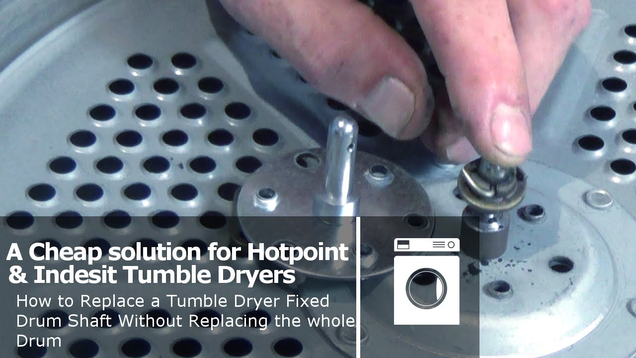 How to replace a tumble dryer fixed drum shaft without for Replace dryer motor or buy new