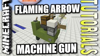 Minecraft PS4 - FLAMING ARROW MACHINE GUN - How To - Tutorial ( PS3 / XBOX ) TU28