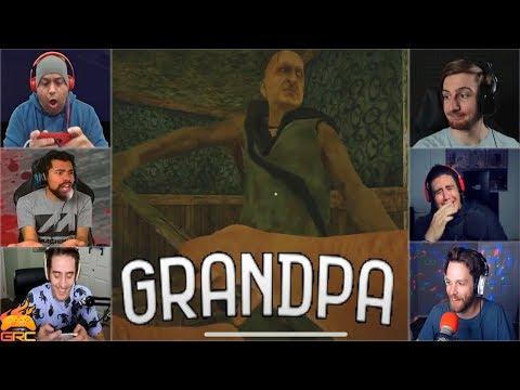 Gamers Reactions to Grandpa Rake Action | Grandpa