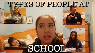 TYPES OF PEOPLE AT SCHOOL | just tomboy things