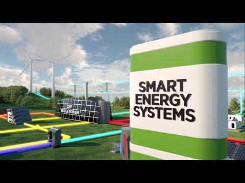 100%-ban megújulókra alapozott országos energiarendszer (smart grid, Dánia, 2050)