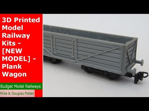 3D Printed Model Railway Kits – [ NEW MODEL ] – Plank Wagon