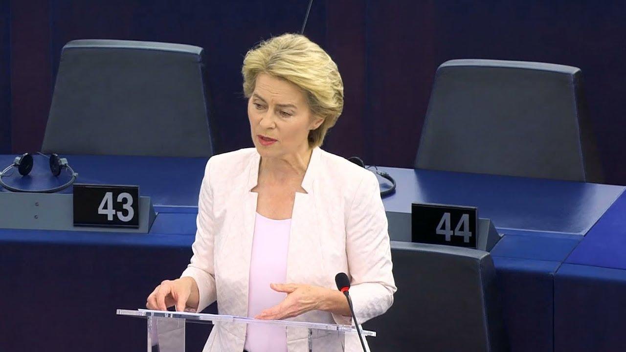 Germany's Ursula von der Leyen voted first female European