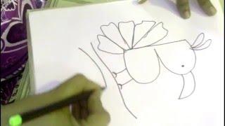How to Draw a Bird using Alphabet B