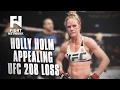 Holly Holm Appeals Loss Against Germaine de Randamie at UFC 208