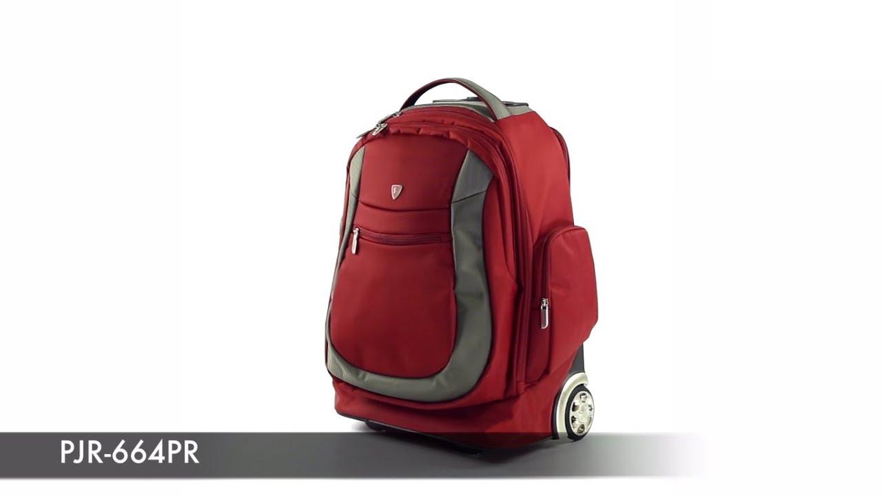 03cf20171579 Рюкзак на колесах Sumdex PJR-664 - YouTube