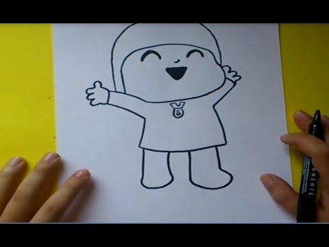 Como dibujar a Pocoyo paso a paso  Pocoyo  How to draw Pocoyo