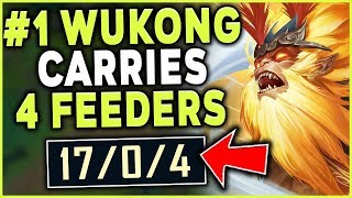 Download #1 WUKONG WORLD HAS THE GAME OF HIS LIFE | INSANE 1V9 CARRYING 4 FEEDERS - League of Legends Mp3 and Videos