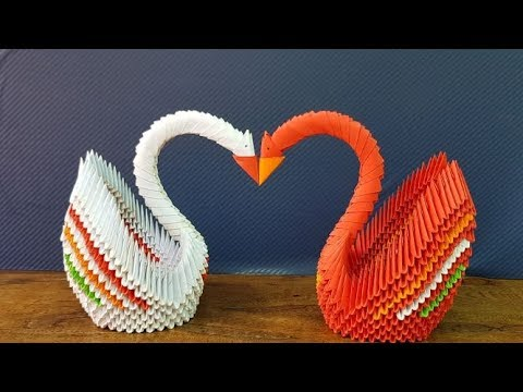 How To Make Paper Swan 3D | Crafty Paper Swan 3D | DIY Paper Swan 3D | Swan with Paper Step by Step.