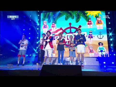 """GOT7 """"딱 좋아(Just right)"""" Stage @ SBS Inkigayo 2015.08.16"""