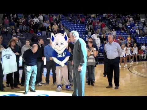 Ed Macauley halftime ceremony Nov. 27, 2010