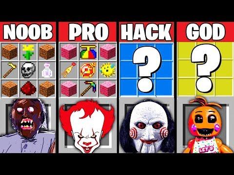 Minecraft Battle: NOOB vs GIRL vs HACKER vs GOD: HORROR GAME CRAFTING CHALLENGE ~ Animation