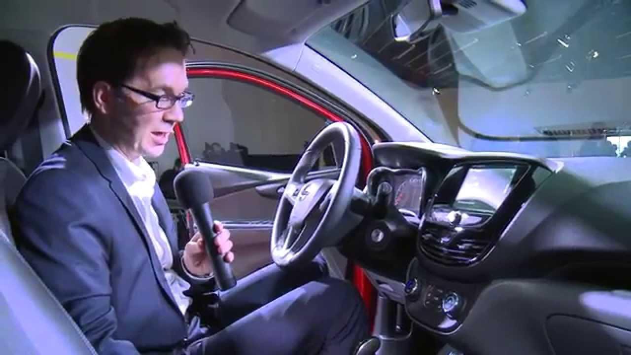 Genfer Autosalon 2015   Opel KARL Interieur-Design   Opel-Blog - YouTube