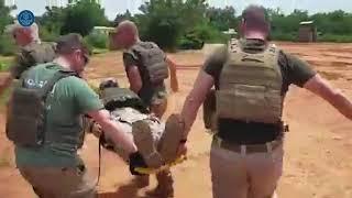 Ejercicio de evacuación de heridos realizados por los helicópteros NH-90 en Mali