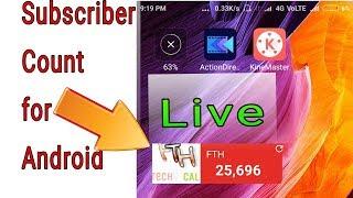 Apne Android mobile ki screen par YouTube live subscriber count Kaise Lagaye