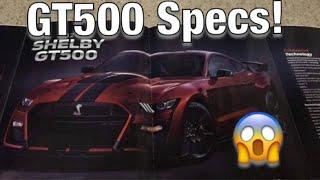 Detroit Auto Show GT500 *Specs Leaked!*