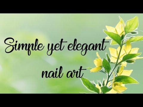 simple yet elegant nail art 💅 nail art at home  easy