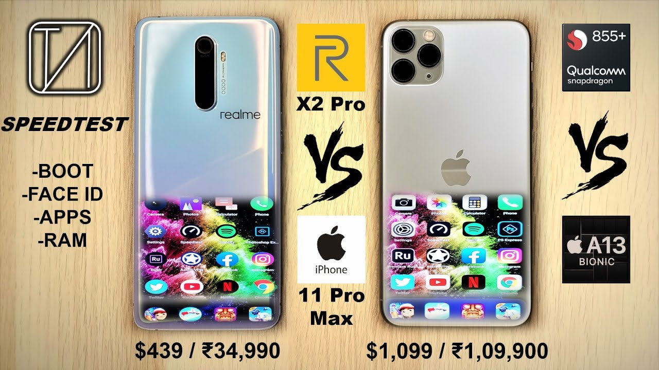 Photo of Realme X2 Pro vs iPhone 11 Pro Max Speed Test – ايفون