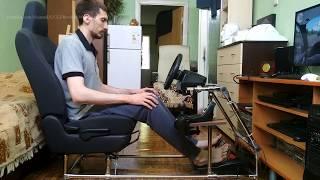 самодельный кокпит для автосимуляторов дома своими руками! DIY Homemade cockpit for ETS 2