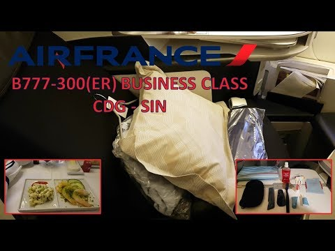 Air France B777 Business Class: Paris to Singapore