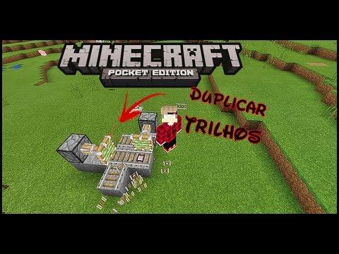 Minecraft PE : Como Fazer Maquina De Duplicar Trilho No Survival Infinito (mcpe 1.0.3)