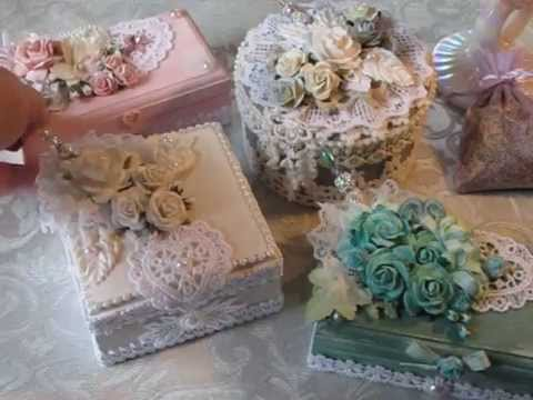 Throw in soft colors, a mix of vintage and new decor, and a picture emerges. Shabby Chic Altered Box Project Share 1 Youtube