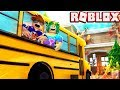 Going on a NIGHTMARE FIELD TRIP with my Daughter! -- ROBLOX