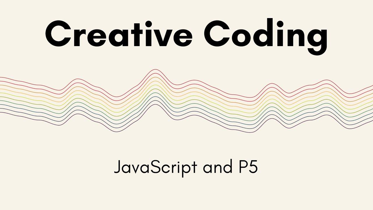 Creative Coding Time Lapse | Rainbow Waves | JavaScript, p5.js
