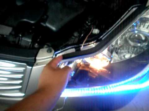 How to install audi style led strip to a carobselete tutorial how to install audi style led strip to a carobselete tutorial youtube mozeypictures Images