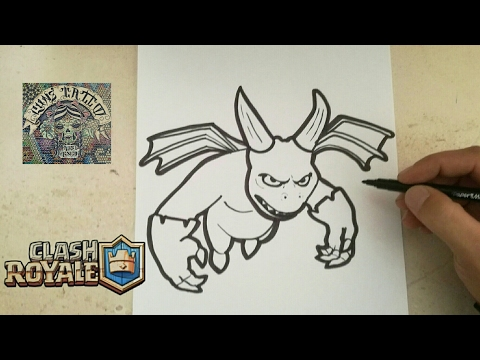 COMO DIBUJAR A ESBIRRO - CLASH ROYALE / How To Draw Esbirro - Clash Royal