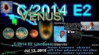 New Comet JAQUES E2 will scrape Venus