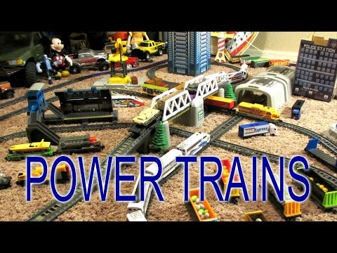 Power Trains - Double Crossover with 3 Trains