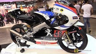 2015 Peugeot Sooters Oral FTP MOTO3 Racing Bike - Turnaround - 2014 EICMA Milan
