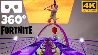 FORTNITE 360° VR Roller Coaster Ride POV 360 도 롤러코스터 탐험 ジェットコースター