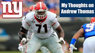 NFL Draft: My Thoughts on Andrew Thomas (NY Giants)