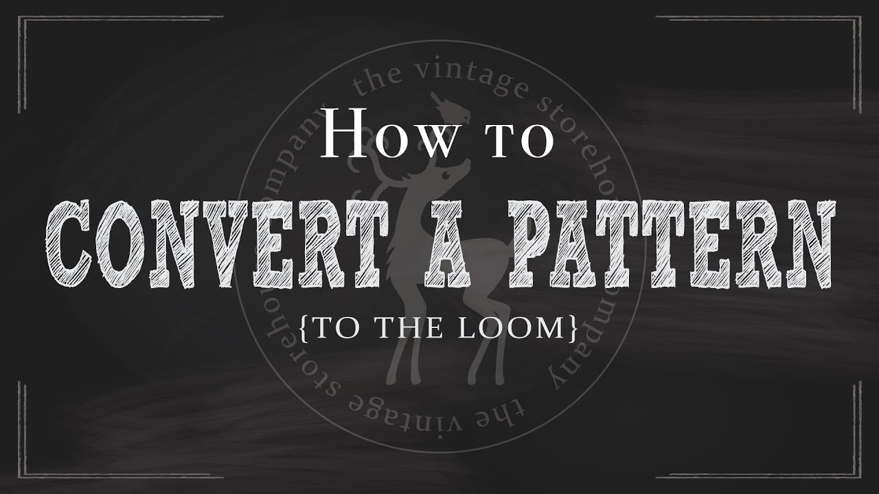How to Convert a Knitting Pattern to the Loom - YouTube