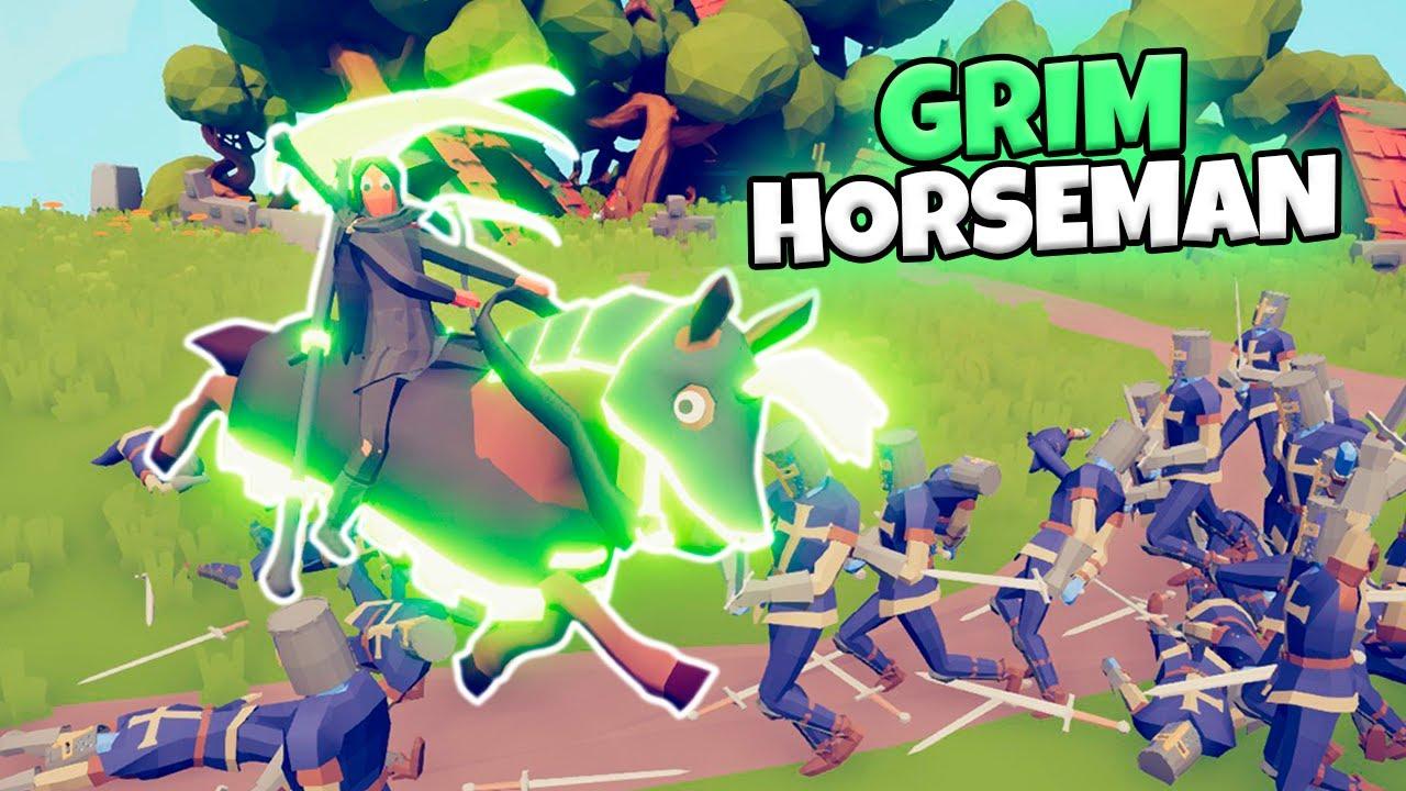 GRIM HORSEMAN VS EVERY FACTION   TABS MODDED GAMEPLAY