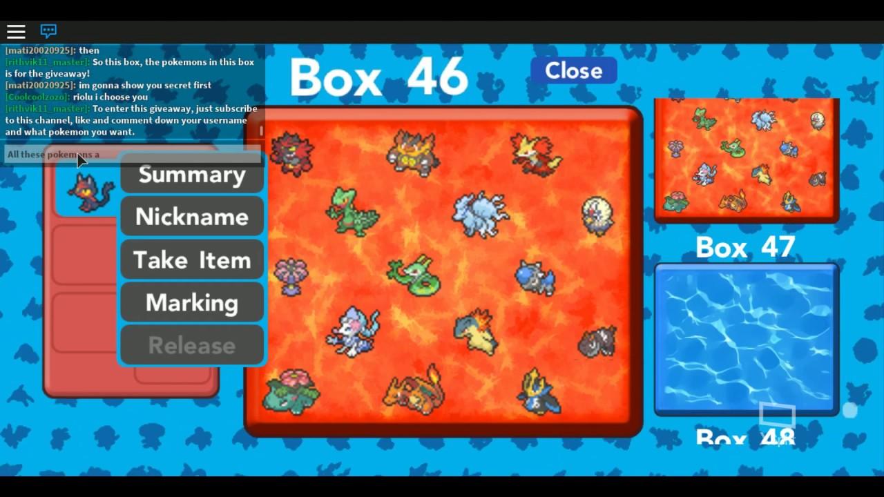 Pokemon Brick Bronze Starter Pokemons Giveaway Youtube