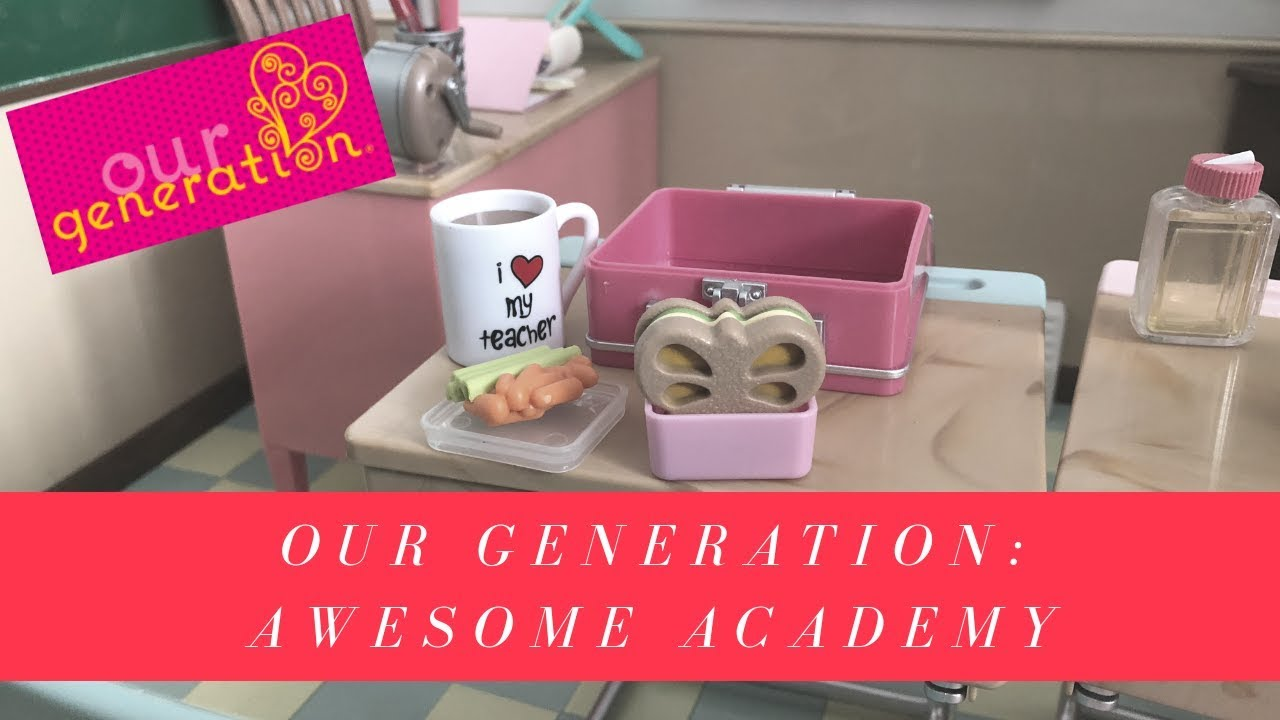 6b334d4deb83 Our Generation Awesome Academy School Room unboxing - YouTube