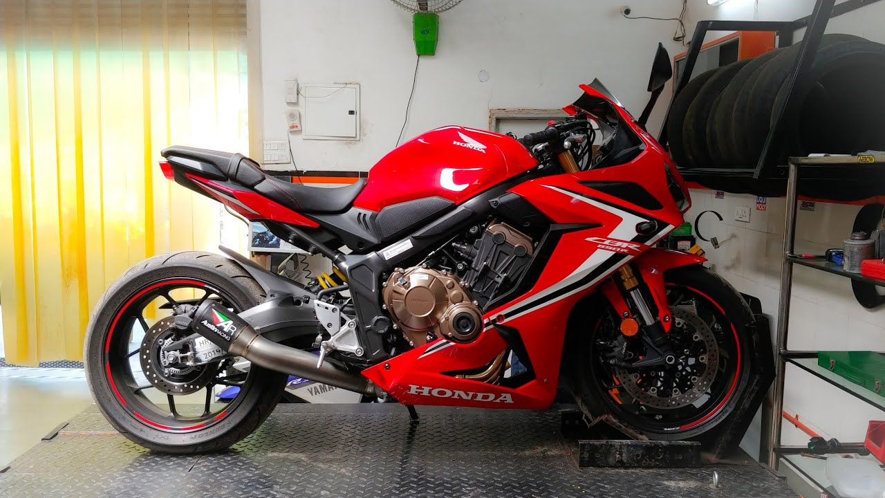 India S First 2019 Honda Cbr650r With Austin Racing Exhaust Video