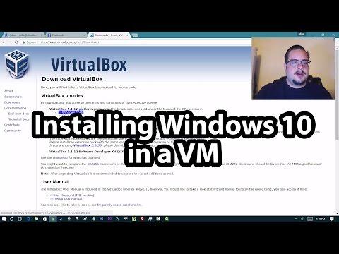 Installing Windows 10 in a Virtual Machine using VirtualBox