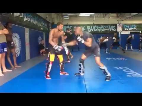 Usman Vs Johnson sparring, not seen this before, there is a few examples of them getting heated in sparring