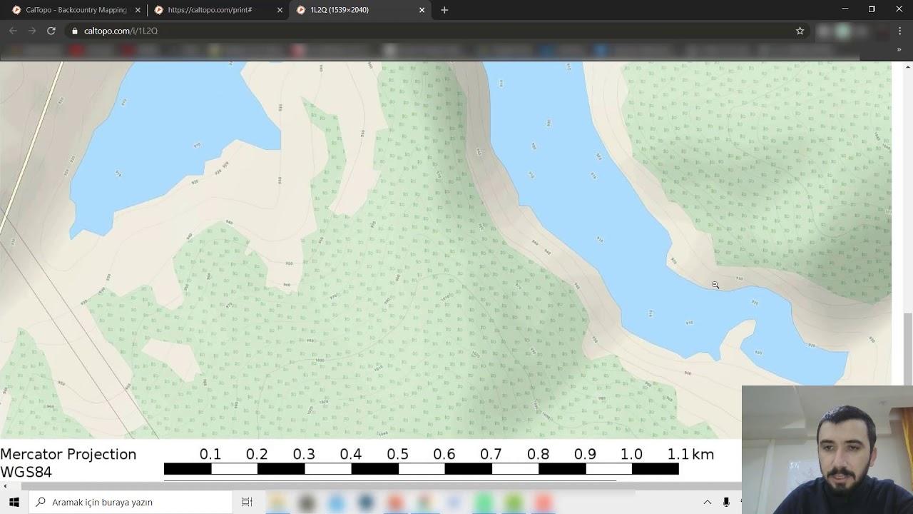 Programsız 1 dk'da izohips haritası yapın (istediğiniz ölçekte)